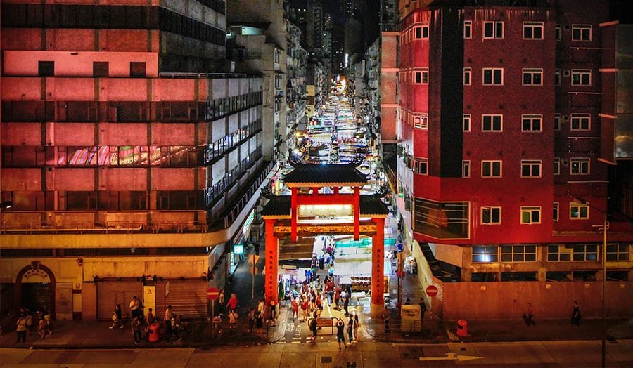 Street Night Market, Hongkong