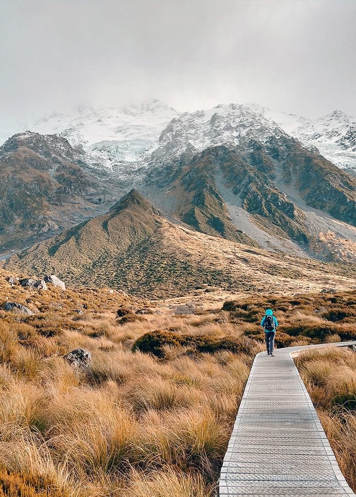 Hooker Valley, Mount Cook National Park in Neuseeland